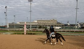 View of Churchill Downs. A view of the track at Churchill Downs in Louisville, Kentucky stock photos