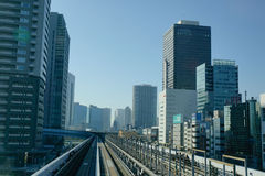 View of track of Shinkansen Bullet Train at Tokyo station, Japan Stock Images