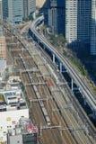 View of track of Shinkansen at Tokyo station, Japan Stock Images