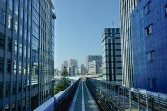 View of track of Subway Train at Tokyo station, Japan Royalty Free Stock Photo
