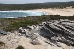 View of track to Marley beach in the Royal National Park. Sunny spring afternoon in the Royal National Park Bundeena, Australia royalty free stock photography