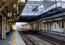 View of the tracks of station in Nagoya, Japan Stock Image