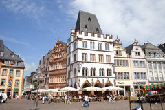 View at tradiontal houses at Hauptmarkt, Trier Germany Royalty Free Stock Images