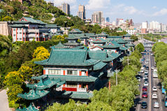 View of traditional buildings in Lanzhou (China) Royalty Free Stock Images