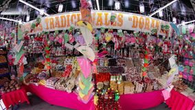 View of a traditional candy stand. Tepotzotlan, Mexico-CIRCA June 2017: View of a traditional candy stand. Mexico is widely known by its beautiful regional stock footage