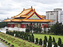 View of traditional chinese buildings and garden stock photo