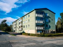 Apartment block in Stockholm Sweden royalty free stock image