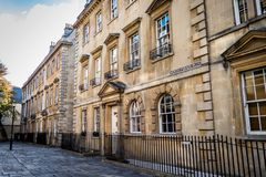 Traditional Georgian Houses in Bath England stock photo