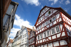 View on traditional German homes in Marburg Royalty Free Stock Photos