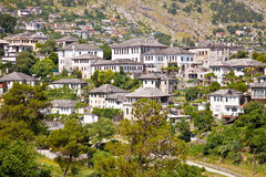 View on Traditional house in Gjirokaster, Albania. Royalty Free Stock Photos
