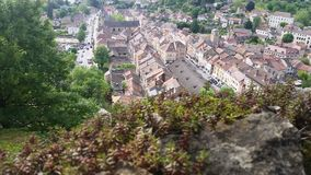 View on traditional medieval village Cremieu Stock Image