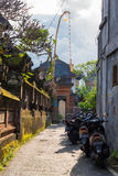 View of traditional narrow street in Ubud, Bali Stock Photography