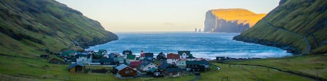 Tjornuvik Village view, Faroe Islands, Europe