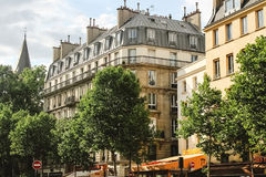 View on traditional parisian buildings in Paris Royalty Free Stock Images
