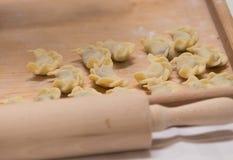 Traditional Polish dumplings. View of the traditional Polish dumplings royalty free stock photos