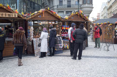 Street market in Prague Royalty Free Stock Photography