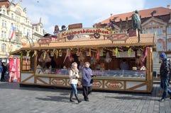 Street market in Prague Royalty Free Stock Images