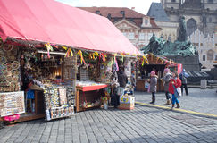 Street market in Prague Stock Images