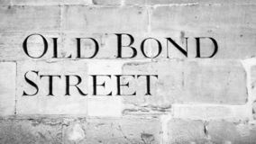 Traditional Street Sign in Bath England. View of Traditional Street Sign in Bath England stock photo