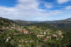 View of the traditional village of Ermida at the Peneda Geres National Park in northern Portugal. Europe stock photo