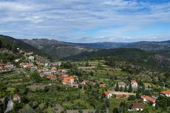 View of the traditional village of Ermida at the Peneda Geres National Park in northern Portugal. Europe royalty free stock photography