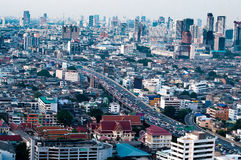 View of traffic in bangkok city Stock Photos