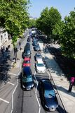 View on a traffic jam in London royalty free stock photography