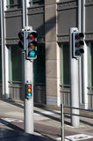 View of traffic lights for bicycles Royalty Free Stock Image