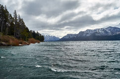 View of the Traful Lake Stock Photography
