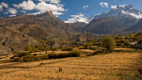 The view on the trail near Muktinath Stock Photo