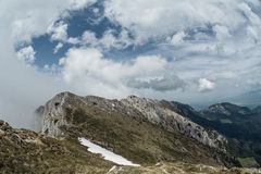 View from the trails in Piatra Craiului mountains, Transylvania, Stock Photos