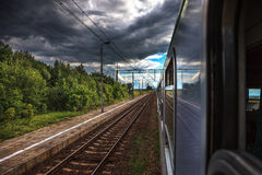 View from the train Royalty Free Stock Photo