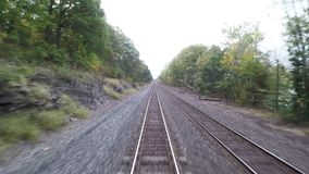 Train View. The view from a train as it travels through New York State hd, 25fps stock video