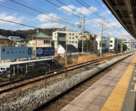 View of the train station in Kamakura, Japan Stock Photography
