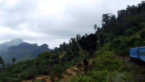 View from the train to Ella. Sri Lanka Stock Photo