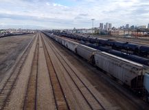 View at train from the top. Royalty Free Stock Photography