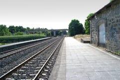 Solitary railway station royalty free stock photo