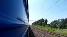 View from train window landscape near Lviv Ukraine