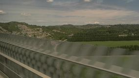 View from train window. stock footage
