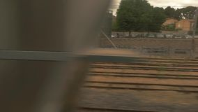 View from train window. stock video footage