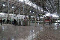 Rossio railway station in Lisbon Stock Photos