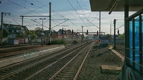 View from trainstation Ehrenfeld in Cologne towards the railways Royalty Free Stock Images