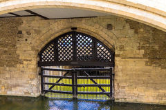 View of the Traitor's Gate in the Tower of London Royalty Free Stock Images