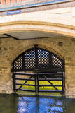 View of the Traitor's Gate in the Tower of London Royalty Free Stock Photos