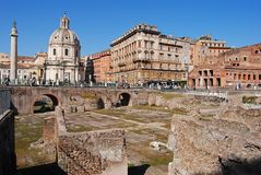 View of Trajan Forum in Rome Royalty Free Stock Images