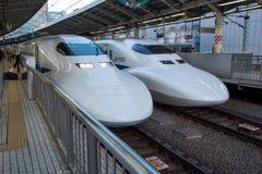 View of trak of Shinkansen Bullet Train at Tokyo station, Japan Royalty Free Stock Photo