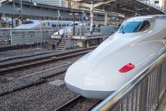 View of trak of Shinkansen Bullet Train at Tokyo station, Japan Royalty Free Stock Photography