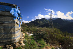 View from the Tram Ton Pass near Sapa. Royalty Free Stock Image