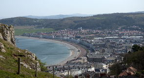 View from the Tramway in Llandudno Stock Photos