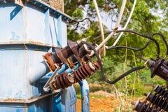 View of the transformer, Puttaparthi, Andhra Pradesh, India. Close-up. Stock Image